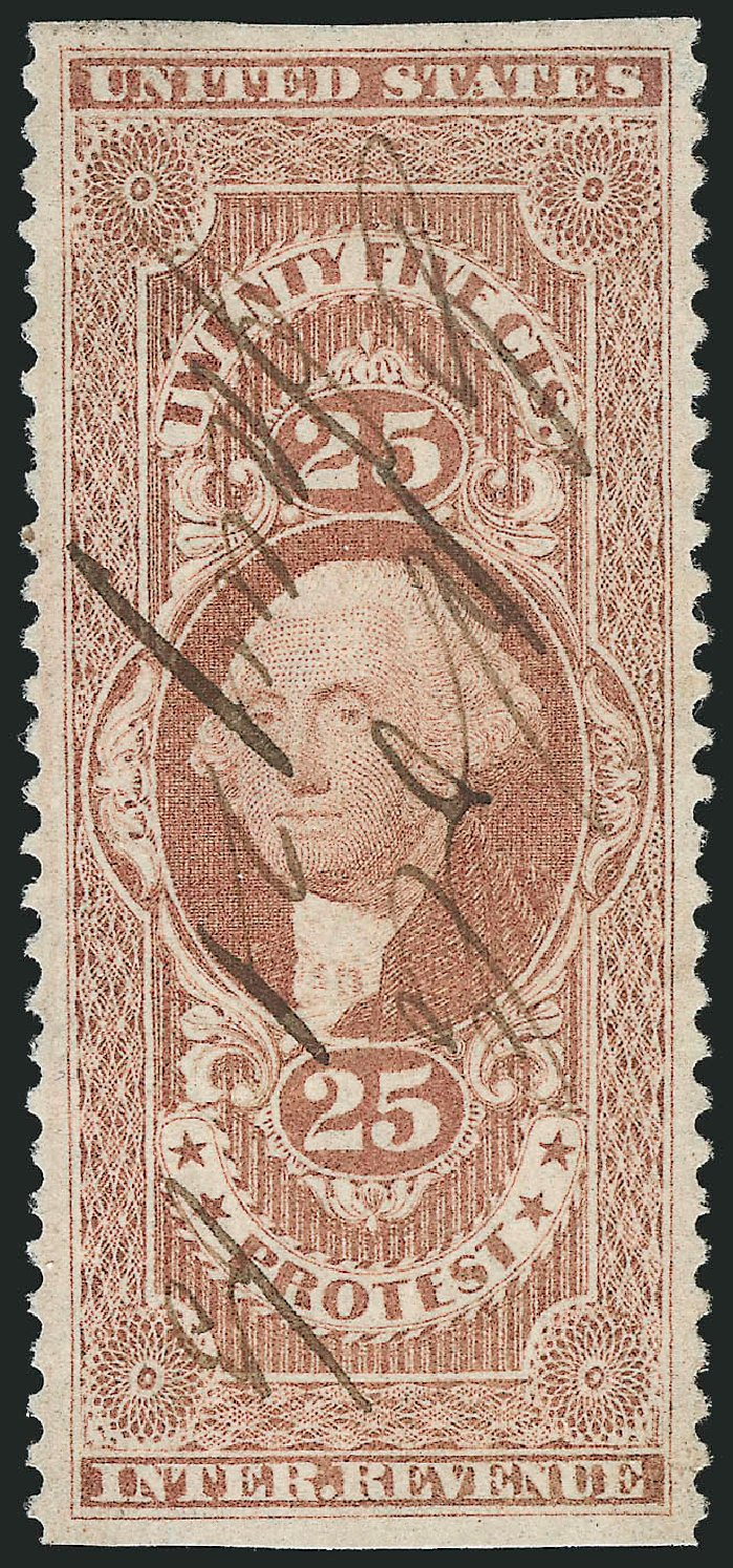 US Stamps Prices Scott Catalog # R49: 1862 25c Revenue Protest. Robert Siegel Auction Galleries, Mar 2014, Sale 1066, Lot 52