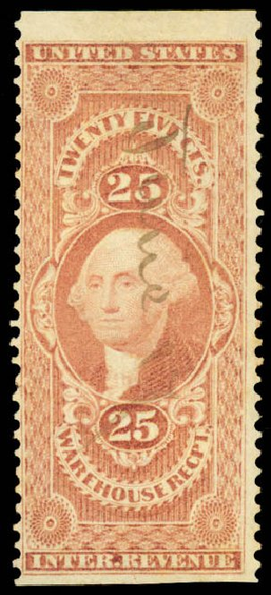 Price of US Stamp Scott Catalog # R50: 25c 1862 Revenue Warehouse. Daniel Kelleher Auctions, Aug 2015, Sale 672, Lot 3067
