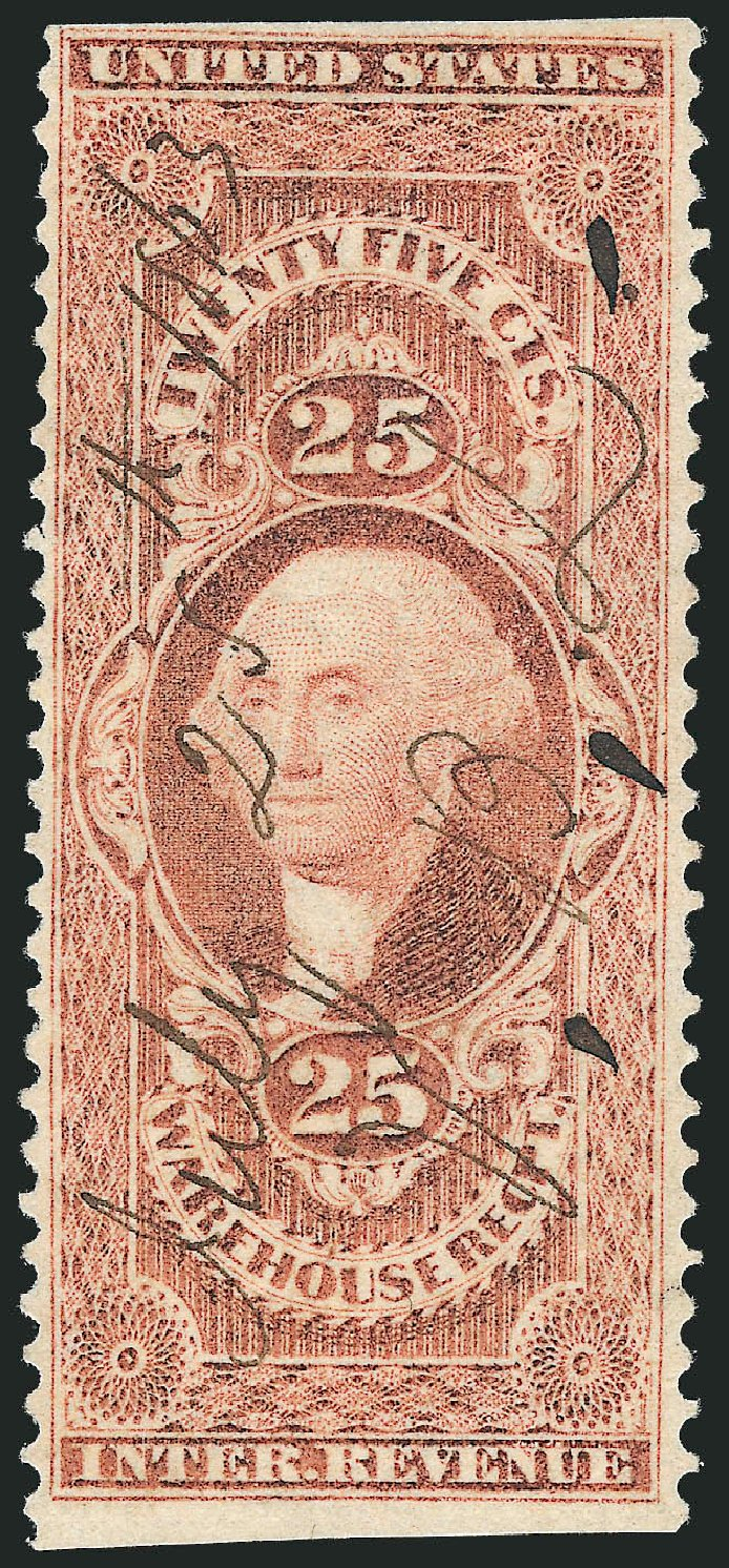 Price of US Stamp Scott R50: 25c 1862 Revenue Warehouse. Robert Siegel Auction Galleries, Nov 2011, Sale 1015, Lot 56