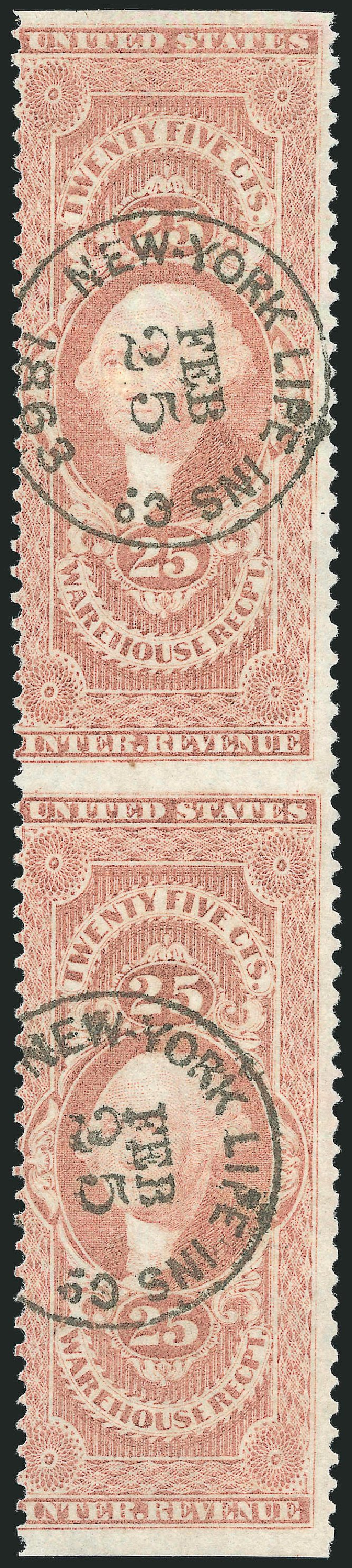 Costs of US Stamps Scott Catalogue # R50 - 1862 25c Revenue Warehouse. Robert Siegel Auction Galleries, Dec 2014, Sale 1089, Lot 406