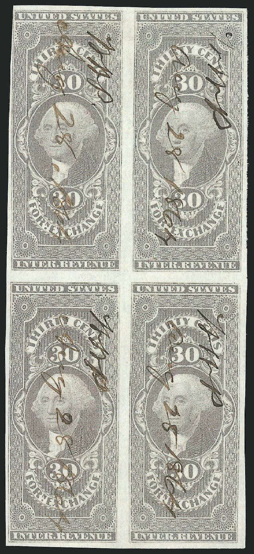 US Stamps Price Scott Catalog #R51 - 30c 1862 Revenue Foreign Exchange. Robert Siegel Auction Galleries, Dec 2014, Sale 1089, Lot 342