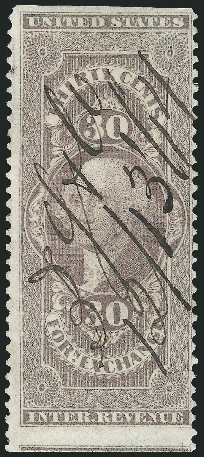 US Stamps Price Scott Catalogue #R51: 1862 30c Revenue Foreign Exchange. Robert Siegel Auction Galleries, Dec 2014, Sale 1089, Lot 296