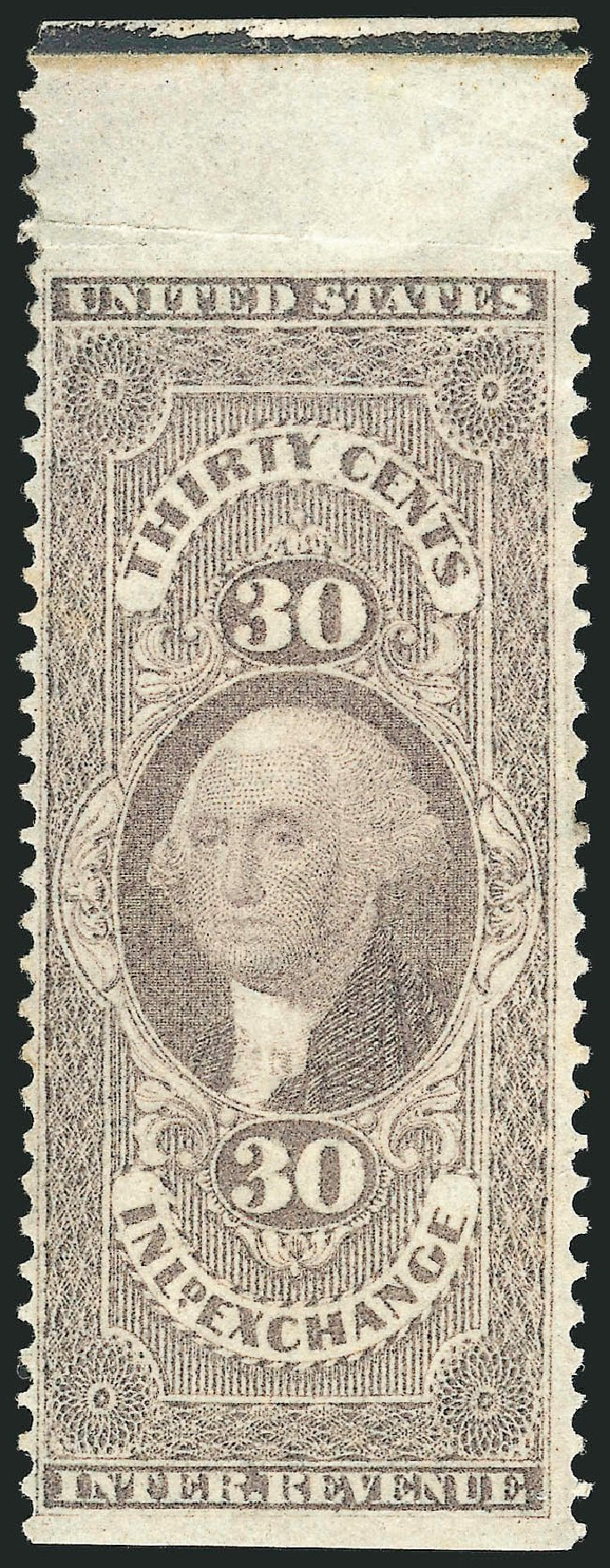 US Stamp Price Scott Catalogue #R52 - 1862 30c Revenue Inland Exchange. Robert Siegel Auction Galleries, Dec 2014, Sale 1089, Lot 297