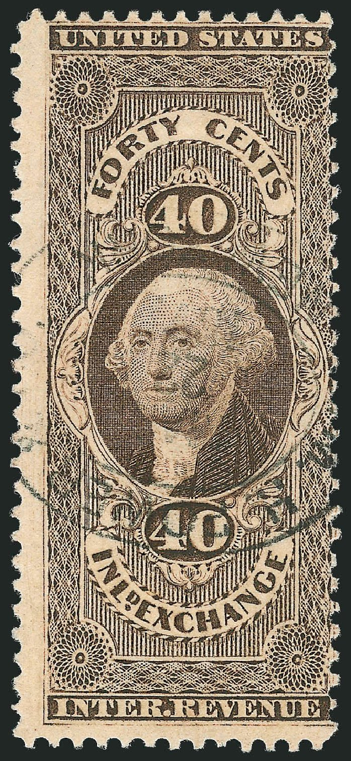 Price of US Stamps Scott #R53 - 1862 40c Revenue Inland Exchange. Robert Siegel Auction Galleries, Nov 2013, Sale 1061, Lot 4278
