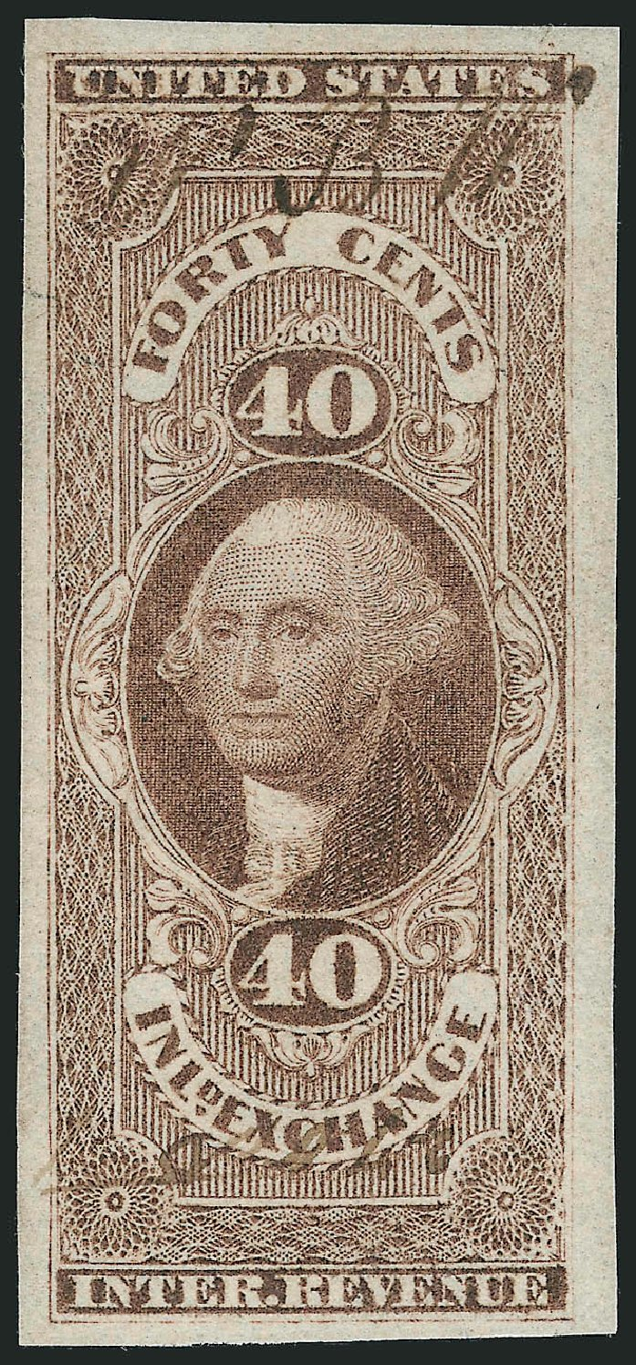 Price of US Stamp Scott Cat. #R53 - 40c 1862 Revenue Inland Exchange. Robert Siegel Auction Galleries, Mar 2014, Sale 1066, Lot 14