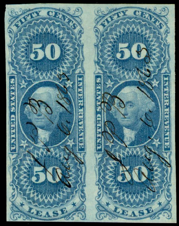 Costs of US Stamp Scott Catalog #R57: 50c 1862 Revenue Lease. Daniel Kelleher Auctions, May 2015, Sale 665, Lot 77