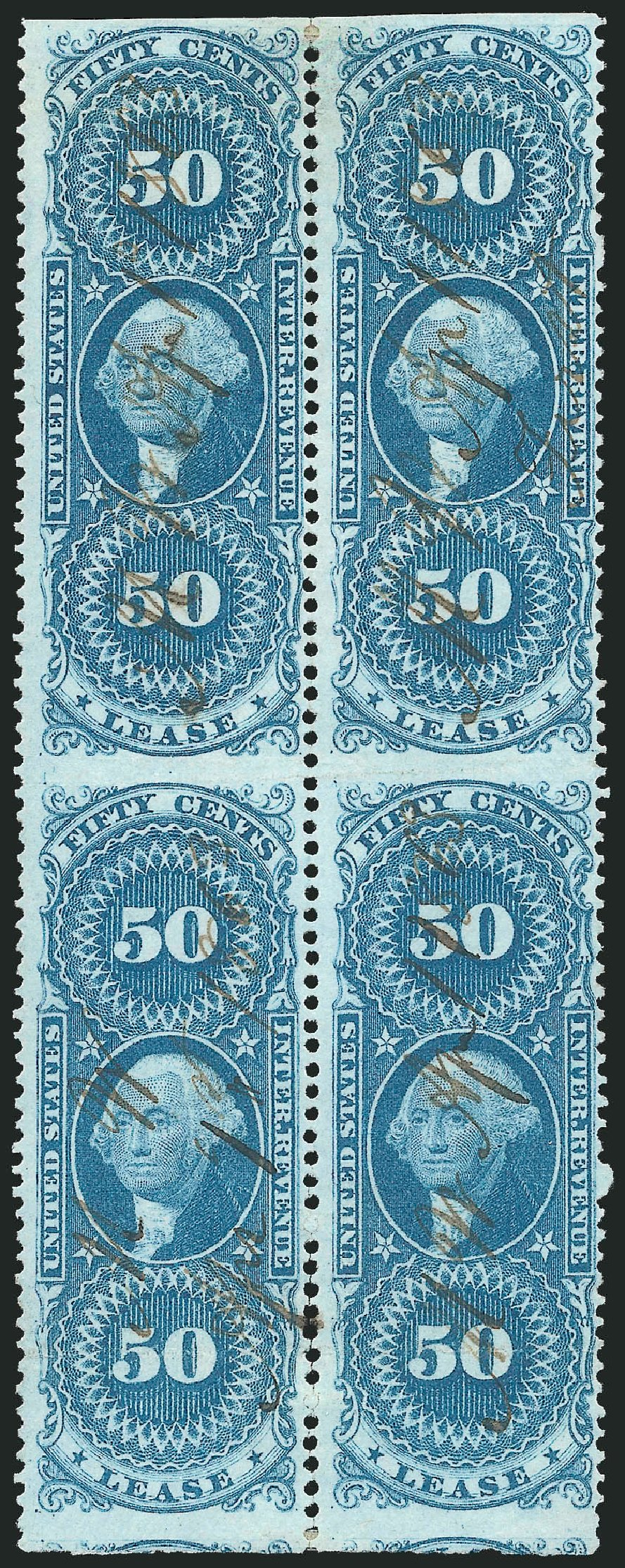 US Stamps Price Scott Catalogue #R57: 50c 1862 Revenue Lease. Robert Siegel Auction Galleries, Dec 2014, Sale 1089, Lot 409