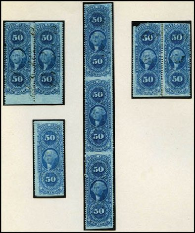 US Stamps Values Scott Catalog # R59 - 50c 1862 Revenue Mortgage. Harmer-Schau Auction Galleries, Aug 2012, Sale 94, Lot 1938