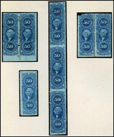 US Stamps Values Scott Catalog # R59 - 50c 1862 Revenue Mortgage. Harmer-Schau Auction Galleries, Aug 2012, Sale 94, Lot 1938