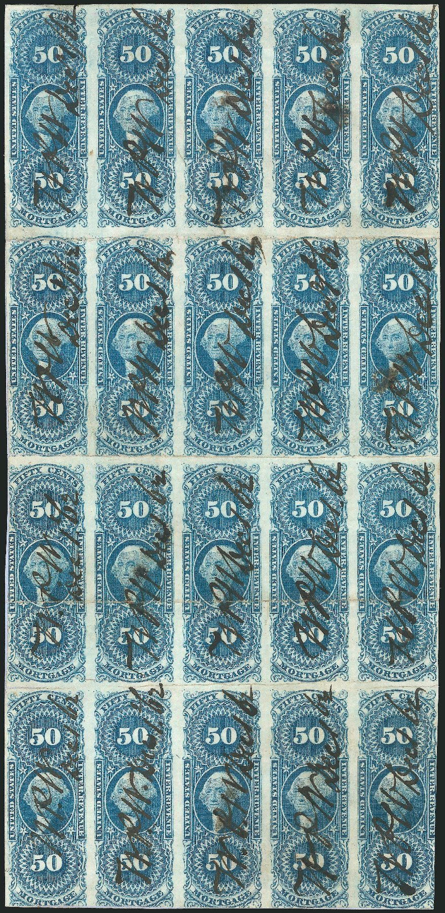 US Stamp Values Scott Cat. # R59: 1862 50c Revenue Mortgage. Robert Siegel Auction Galleries, Dec 2014, Sale 1089, Lot 346