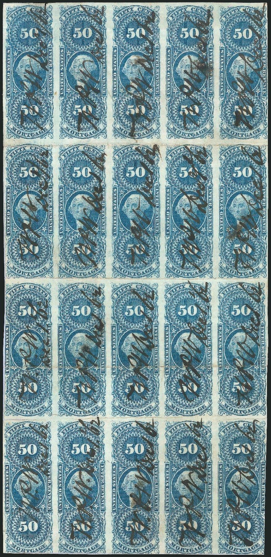 US Stamp Values Scott Cat. # R59: 1862 50c Revenue Mortgage. Robert Siegel Auction Galleries, Dec 2014, Sale 1089, Lot 346