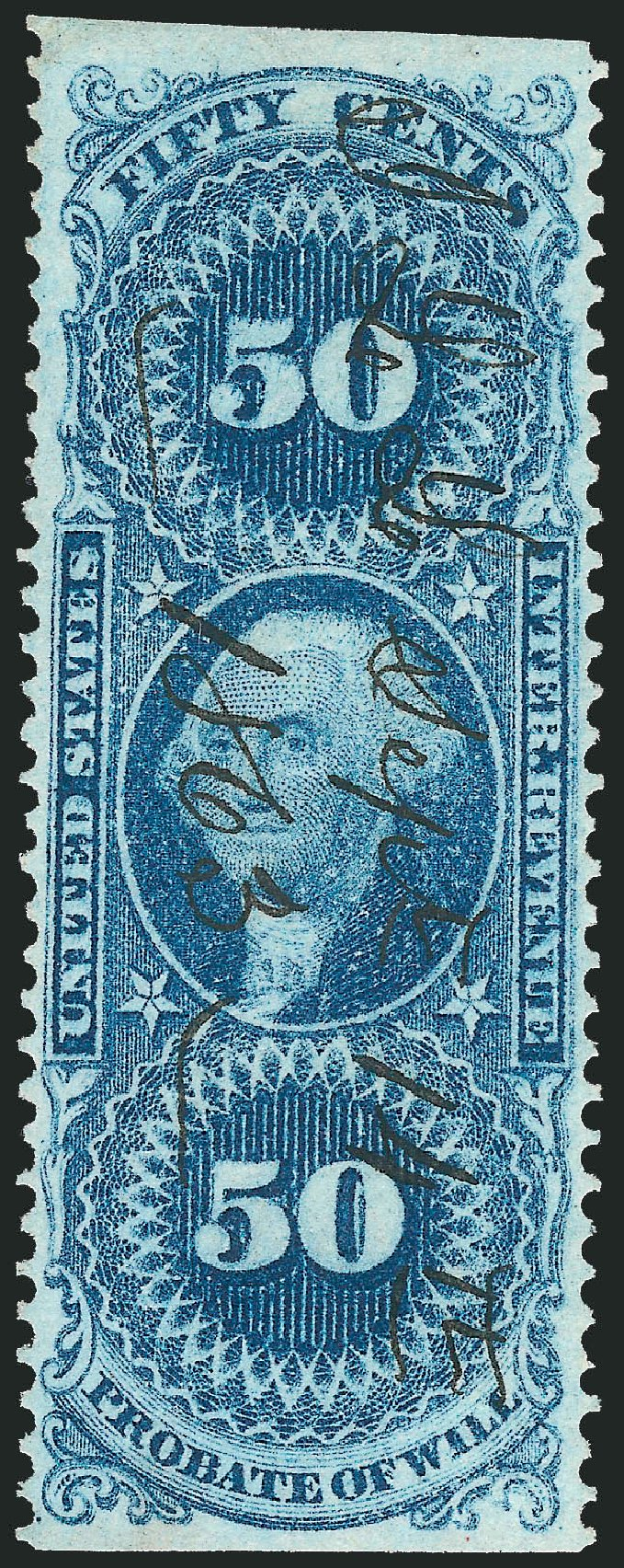 Price of US Stamp Scott Catalog #R62 - 50c 1862 Revenue Probate of Will. Robert Siegel Auction Galleries, Nov 2011, Sale 1015, Lot 61