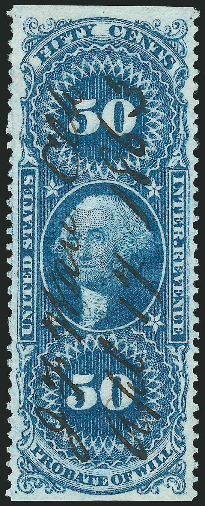 US Stamps Price Scott # R62: 50c 1862 Revenue Probate of Will. Robert Siegel Auction Galleries, Mar 2014, Sale 1066, Lot 55