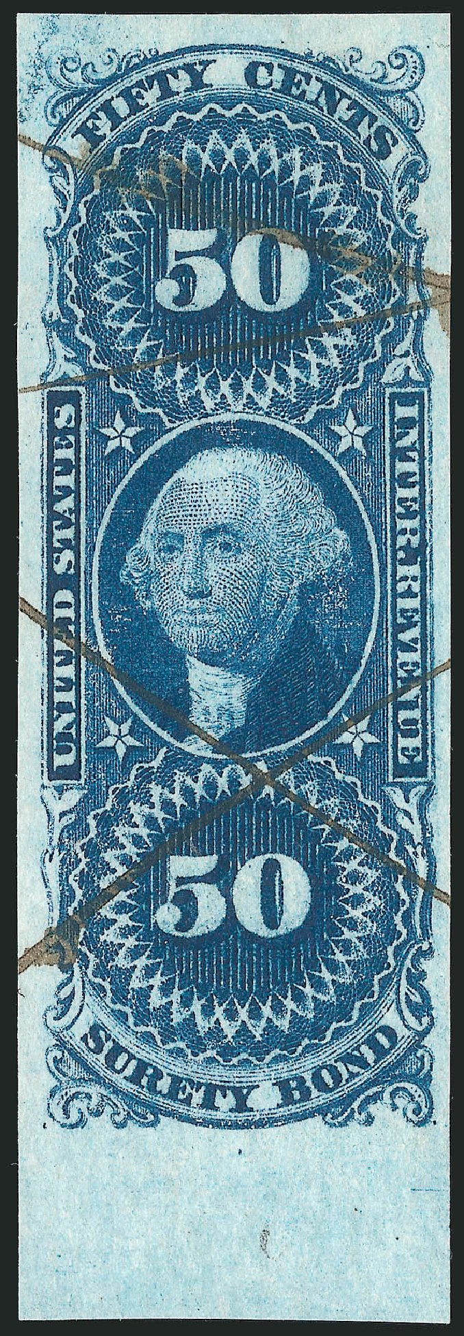 US Stamp Prices Scott Catalog R63 - 50c 1862 Revenue Surety Bond. Robert Siegel Auction Galleries, Dec 2014, Sale 1089, Lot 229