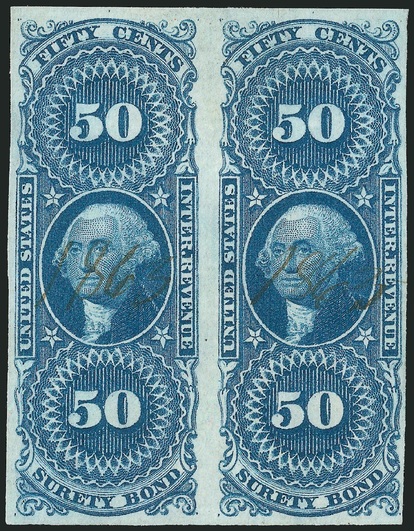 US Stamps Prices Scott Catalog # R63 - 50c 1862 Revenue Surety Bond. Robert Siegel Auction Galleries, Dec 2014, Sale 1089, Lot 231