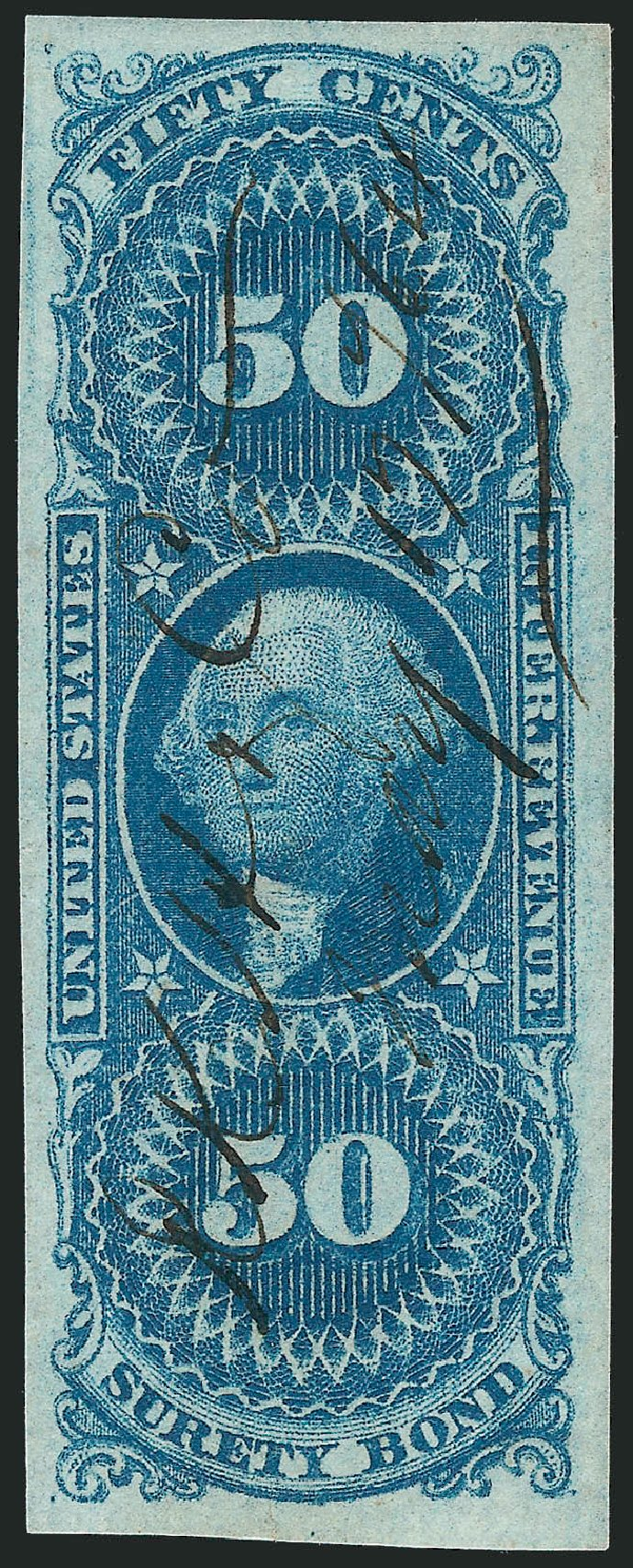 Costs of US Stamps Scott #R63: 1862 50c Revenue Surety Bond. Robert Siegel Auction Galleries, Nov 2011, Sale 1015, Lot 13