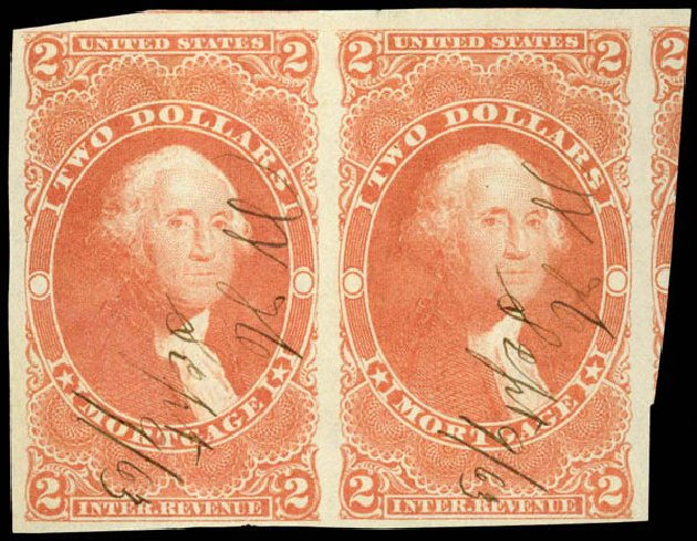 Price of US Stamps Scott Cat. R65 - 1862 70c Revenue Foreign Exchange. Daniel Kelleher Auctions, Aug 2015, Sale 672, Lot 3070