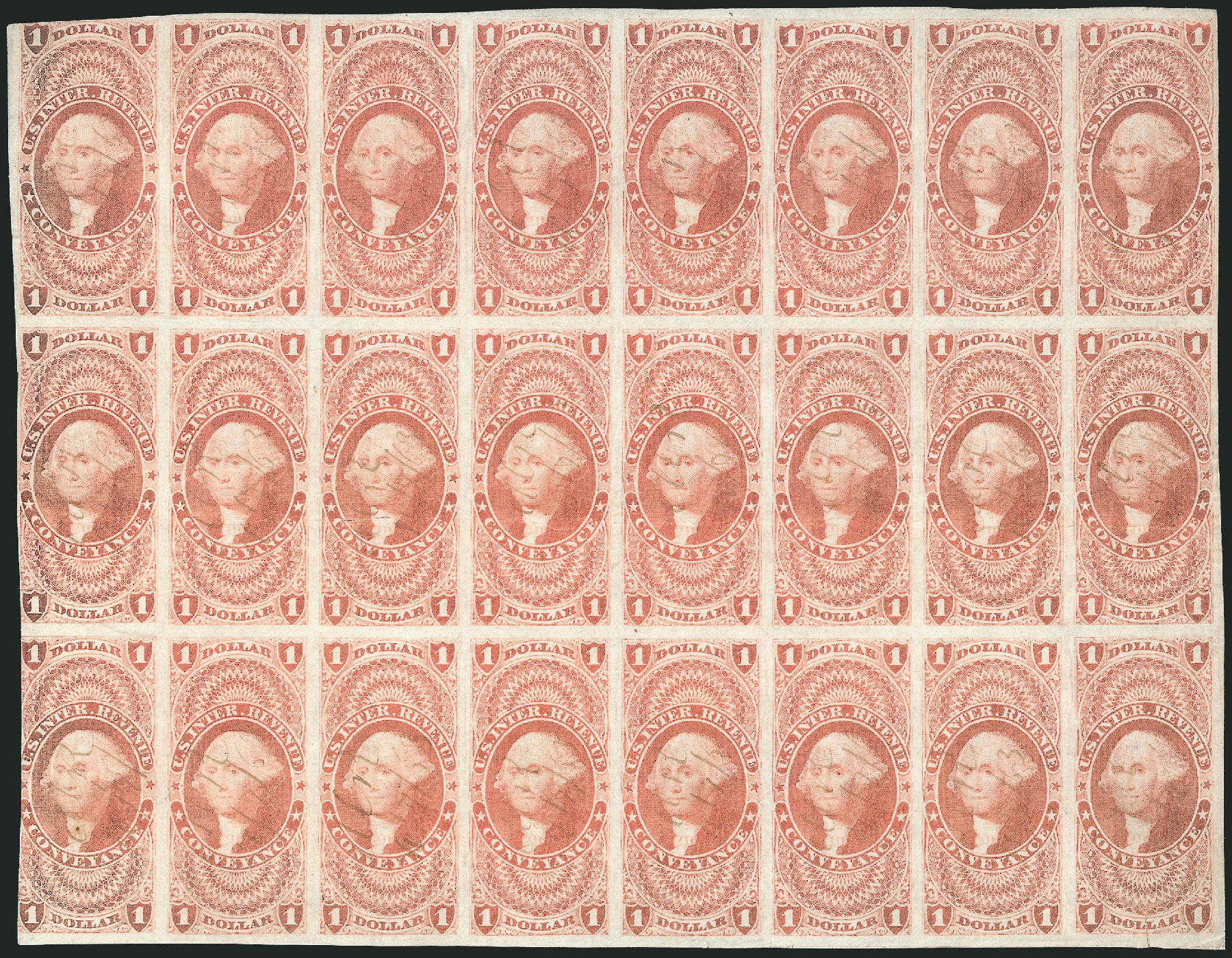 Costs of US Stamps Scott Catalogue #R66 - US$1.00 1862 Revenue Conveyance. Robert Siegel Auction Galleries, Dec 2014, Sale 1089, Lot 351