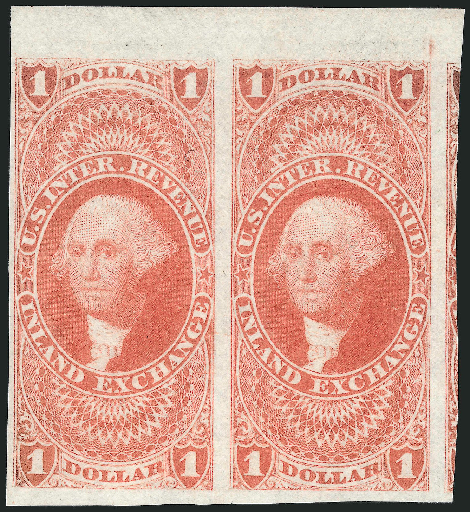 US Stamps Value Scott R69 - US$1.00 1862 Revenue Inland Exchange. Robert Siegel Auction Galleries, Mar 2014, Sale 1066, Lot 19