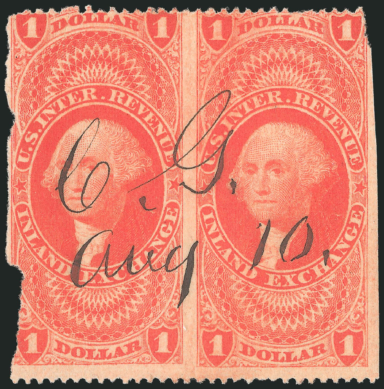 Price of US Stamp Scott # R69: US$1.00 1862 Revenue Inland Exchange. Robert Siegel Auction Galleries, Dec 2014, Sale 1089, Lot 415