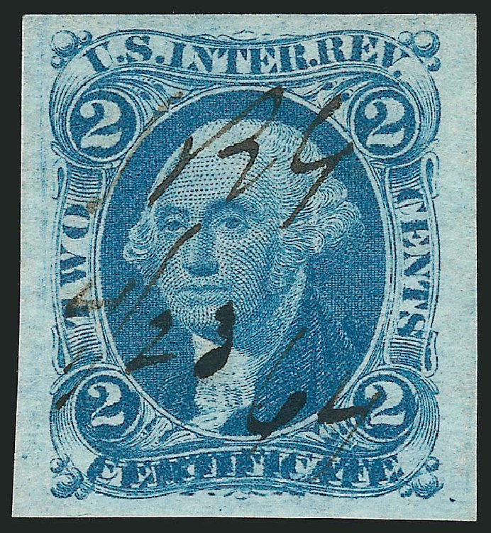 Price of US Stamp Scott #R7: 1862 2c Revenue Certificate. Robert Siegel Auction Galleries, Mar 2014, Sale 1066, Lot 5