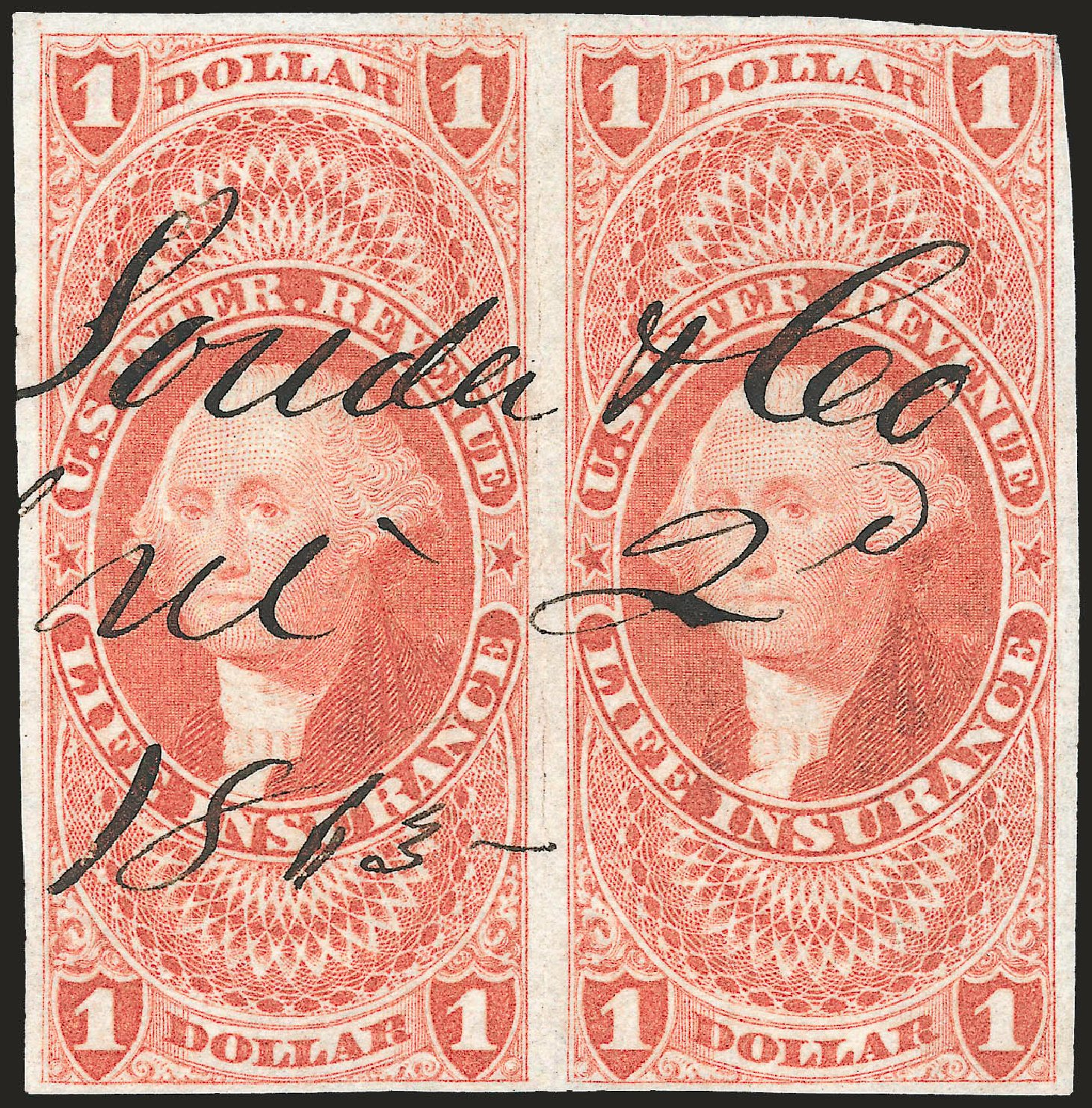 Price of US Stamps Scott #R71: US$1.00 1862 Revenue Life Insurance. Robert Siegel Auction Galleries, Dec 2008, Sale 967, Lot 5234