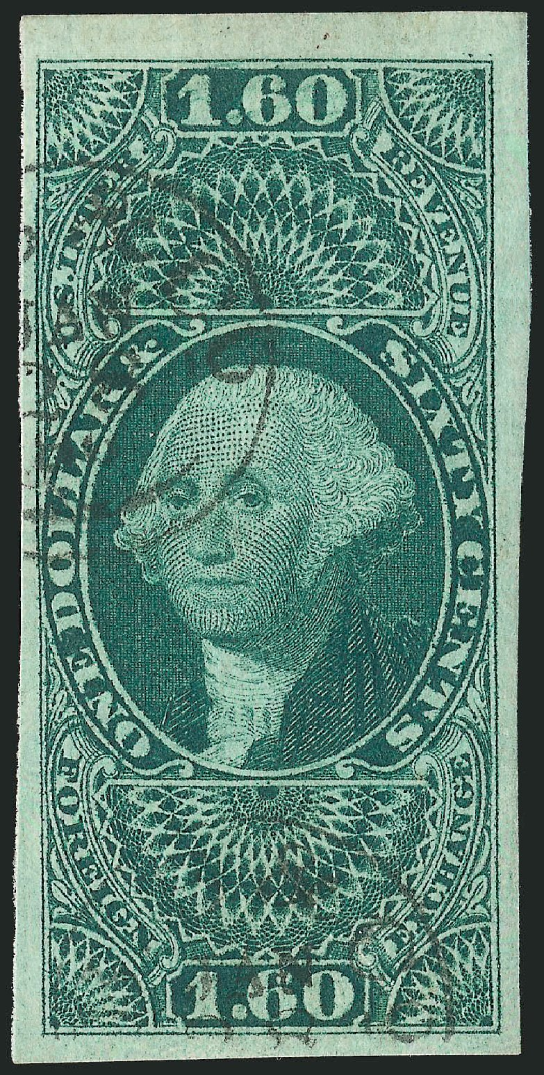 US Stamp Value Scott Catalogue #R79: 1863 US$1.60 Revenue Foreign Exchange. Robert Siegel Auction Galleries, Dec 2014, Sale 1089, Lot 237