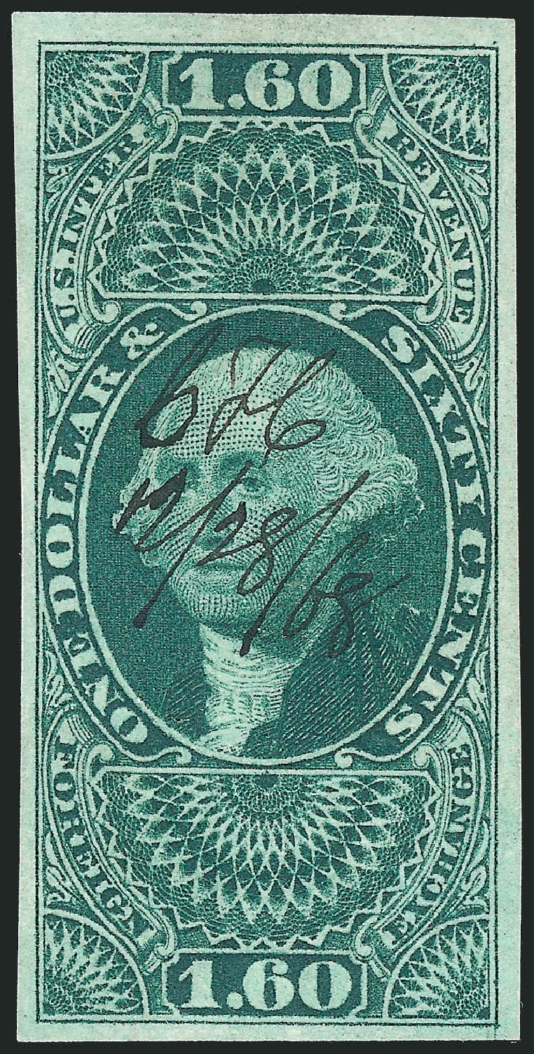 US Stamps Value Scott Catalog #R79 - US$1.60 1863 Revenue Foreign Exchange. Robert Siegel Auction Galleries, Nov 2011, Sale 1015, Lot 18