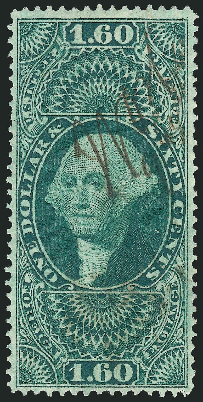 Values of US Stamp Scott R79: 1863 US$1.60 Revenue Foreign Exchange. Robert Siegel Auction Galleries, Nov 2011, Sale 1015, Lot 72