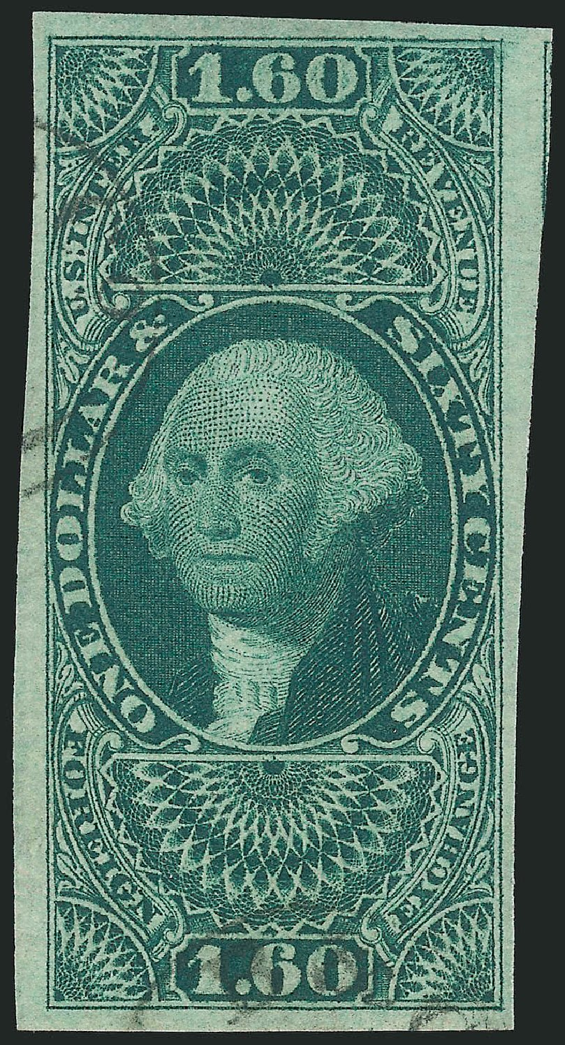 Price of US Stamps Scott Catalog # R79: 1863 US$1.60 Revenue Foreign Exchange. Robert Siegel Auction Galleries, Feb 2015, Sale 1092, Lot 1496
