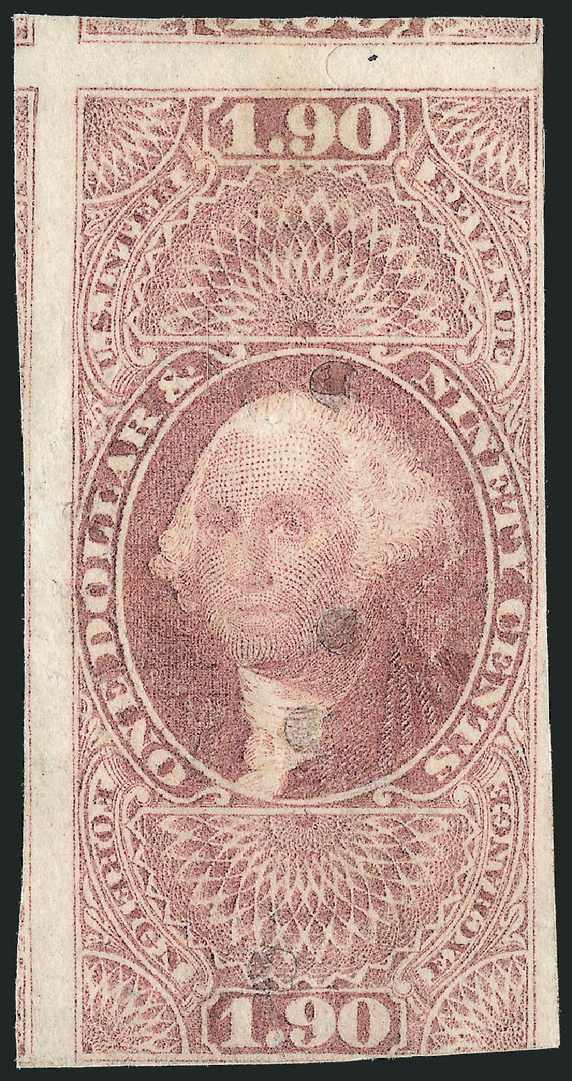 US Stamps Value Scott Catalogue R80 - 1863 US$1.90 Revenue Foreign Exchange. Robert Siegel Auction Galleries, Oct 2010, Sale 997, Lot 6577