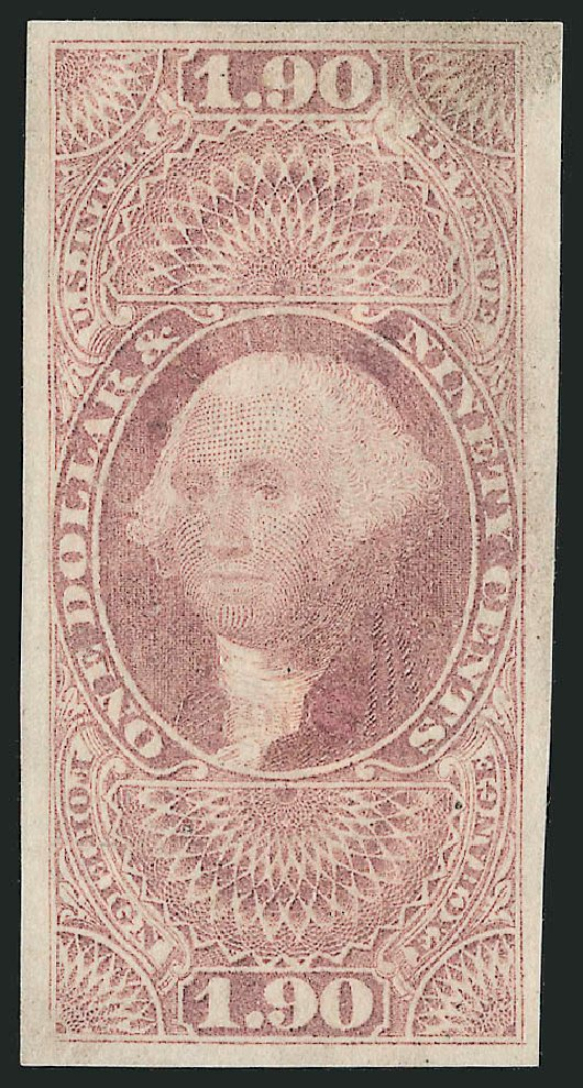 Costs of US Stamp Scott #R80: US$1.90 1863 Revenue Foreign Exchange. Robert Siegel Auction Galleries, Dec 2014, Sale 1089, Lot 239