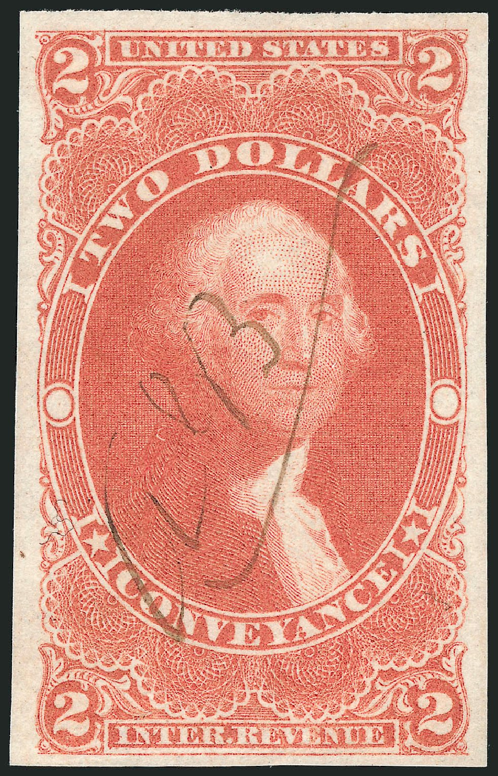 Prices of US Stamps Scott Catalogue R81 - US$2.00 1862 Revenue Conveyance. Robert Siegel Auction Galleries, Feb 2015, Sale 1092, Lot 1497