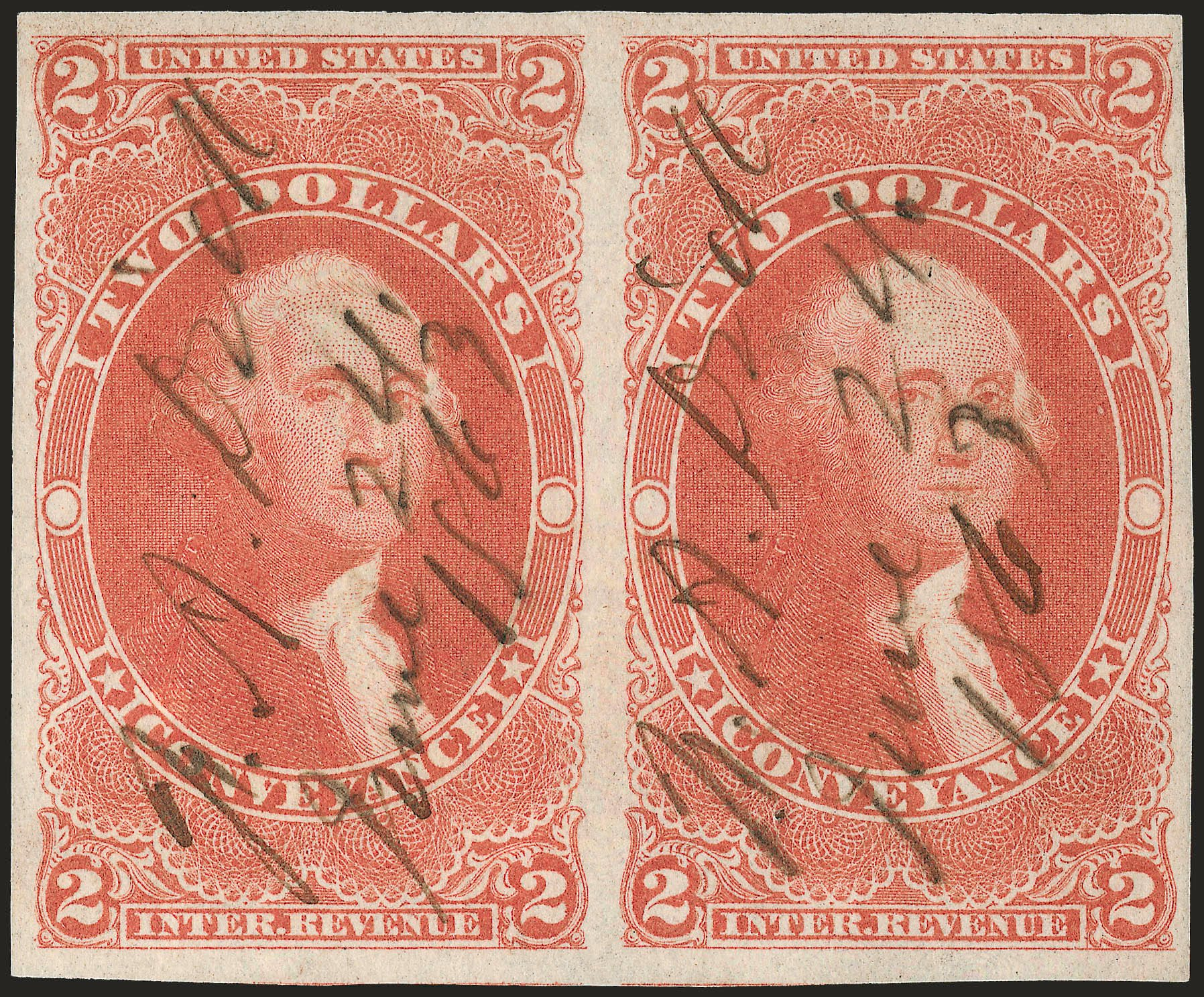Costs of US Stamps Scott #R81 - 1862 US$2.00 Revenue Conveyance. Robert Siegel Auction Galleries, Dec 2008, Sale 967, Lot 5235