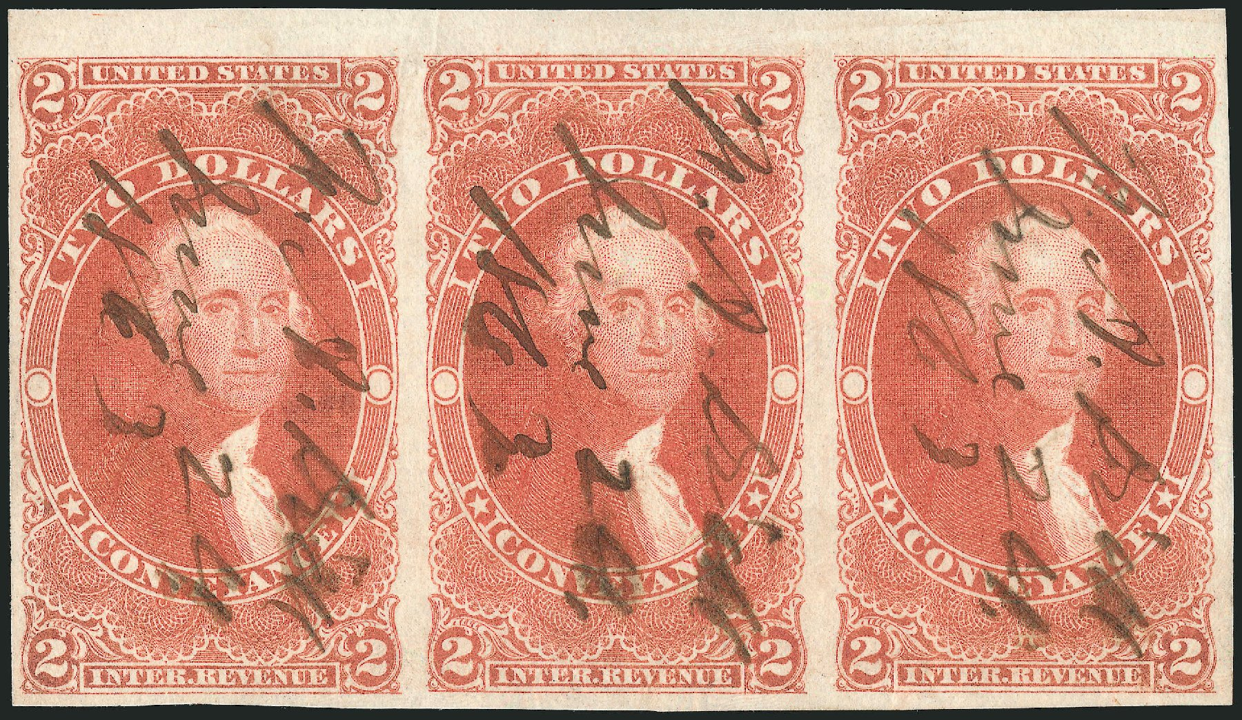US Stamp Prices Scott Catalog R81: 1862 US$2.00 Revenue Conveyance. Robert Siegel Auction Galleries, Dec 2014, Sale 1089, Lot 242
