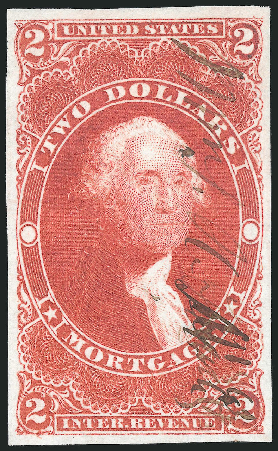 Costs of US Stamps Scott Cat. R82 - US$2.00 1862 Revenue Mortgage. Robert Siegel Auction Galleries, Mar 2014, Sale 1066, Lot 24