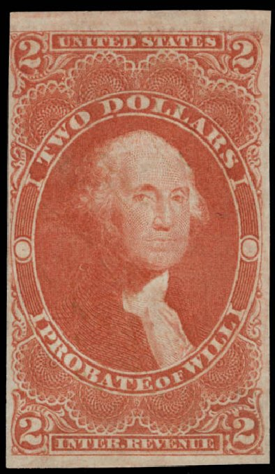 Prices of US Stamps Scott #R83: US$2.00 1862 Revenue Probate of Will. Daniel Kelleher Auctions, May 2015, Sale 665, Lot 123