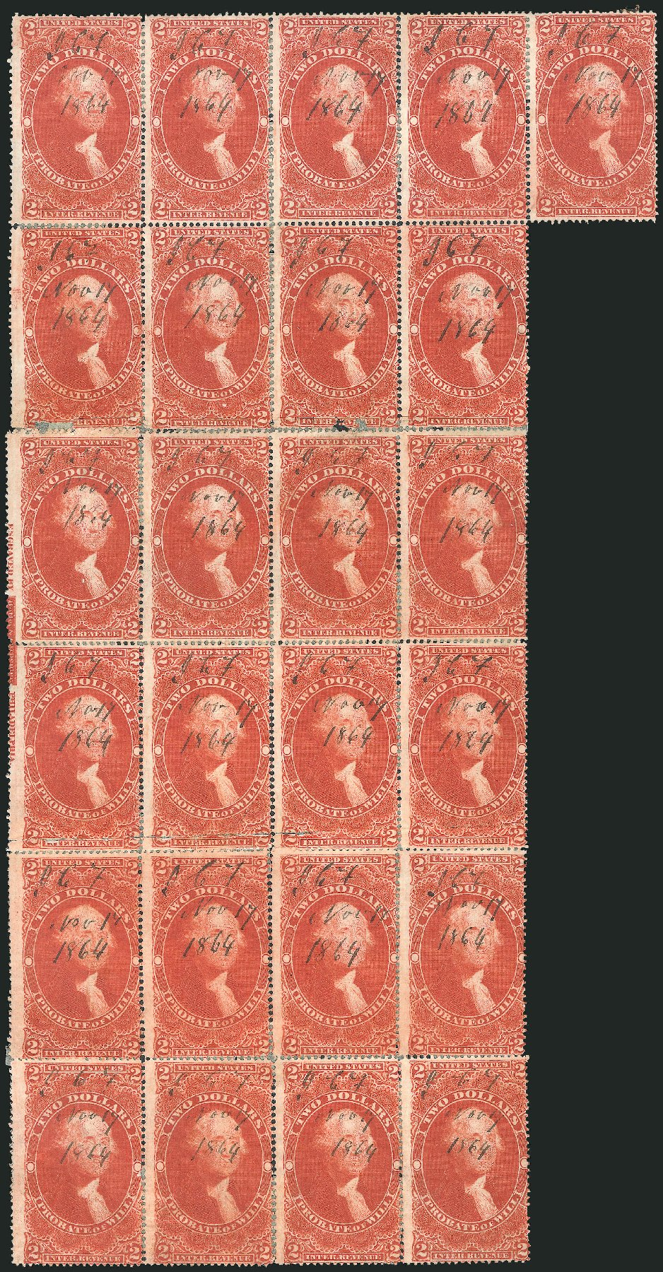 Costs of US Stamp Scott Catalog #R83: US$2.00 1862 Revenue Probate of Will. Robert Siegel Auction Galleries, Dec 2014, Sale 1089, Lot 433