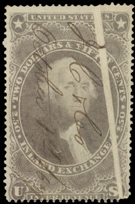 US Stamps Prices Scott Catalogue # R84 - US$2.50 1863 Revenue Inland Exchange. Daniel Kelleher Auctions, May 2015, Sale 665, Lot 126