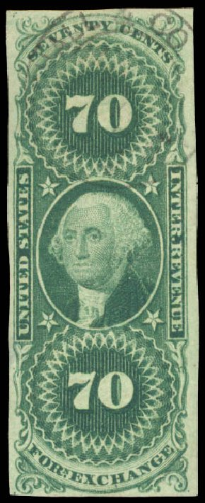 US Stamp Values Scott # R85 - US$3.00 1862 Revenue Charter Party. Daniel Kelleher Auctions, Aug 2015, Sale 672, Lot 3072