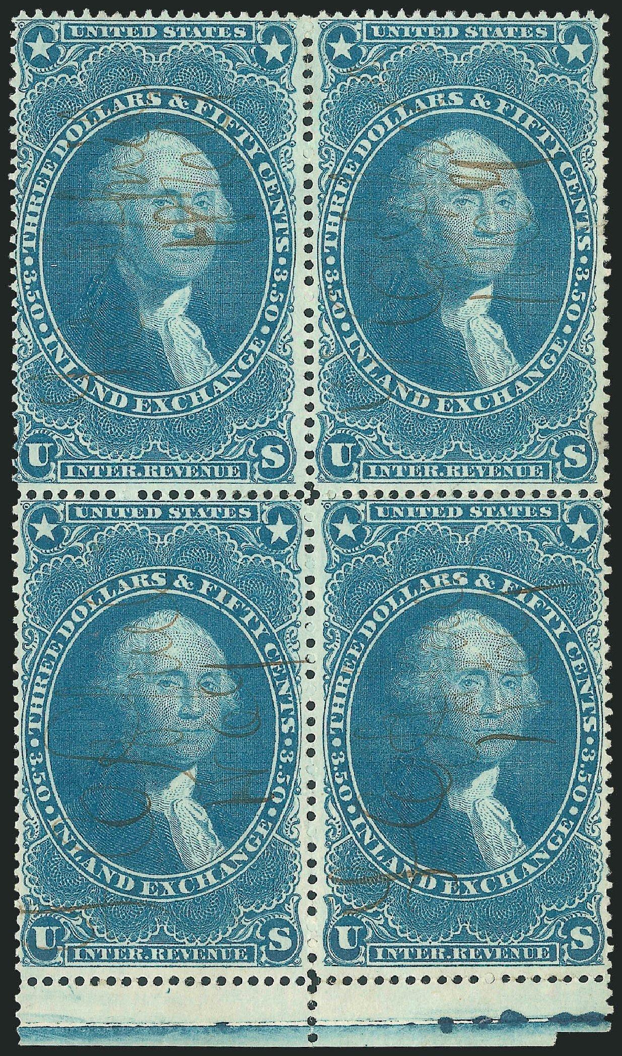 Price of US Stamp Scott Cat. R87 - US$3.50 1863 Revenue Inland Exchange. Robert Siegel Auction Galleries, Dec 2014, Sale 1089, Lot 435
