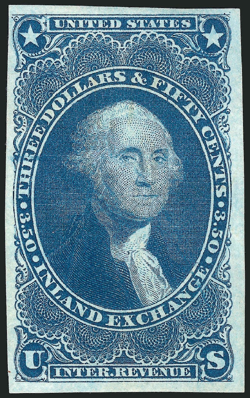 Cost of US Stamp Scott #R87: 1863 US$3.50 Revenue Inland Exchange. Robert Siegel Auction Galleries, Nov 2013, Sale 1061, Lot 4286