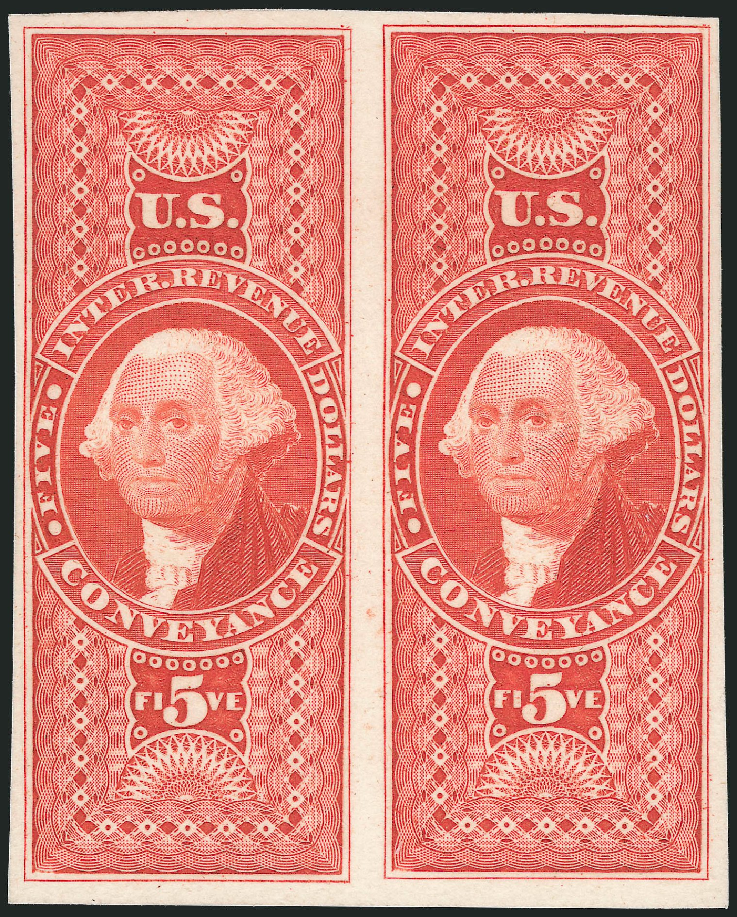 US Stamps Value Scott Catalog # R89: US$5.00 1862 Revenue Conveyance. Robert Siegel Auction Galleries, Oct 2012, Sale 1031, Lot 1031