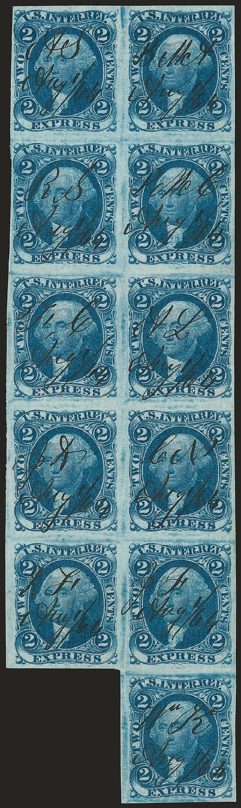 Prices of US Stamps Scott Catalog #R9 - 1862 2c Revenue Express. Robert Siegel Auction Galleries, Dec 2008, Sale 967, Lot 5221
