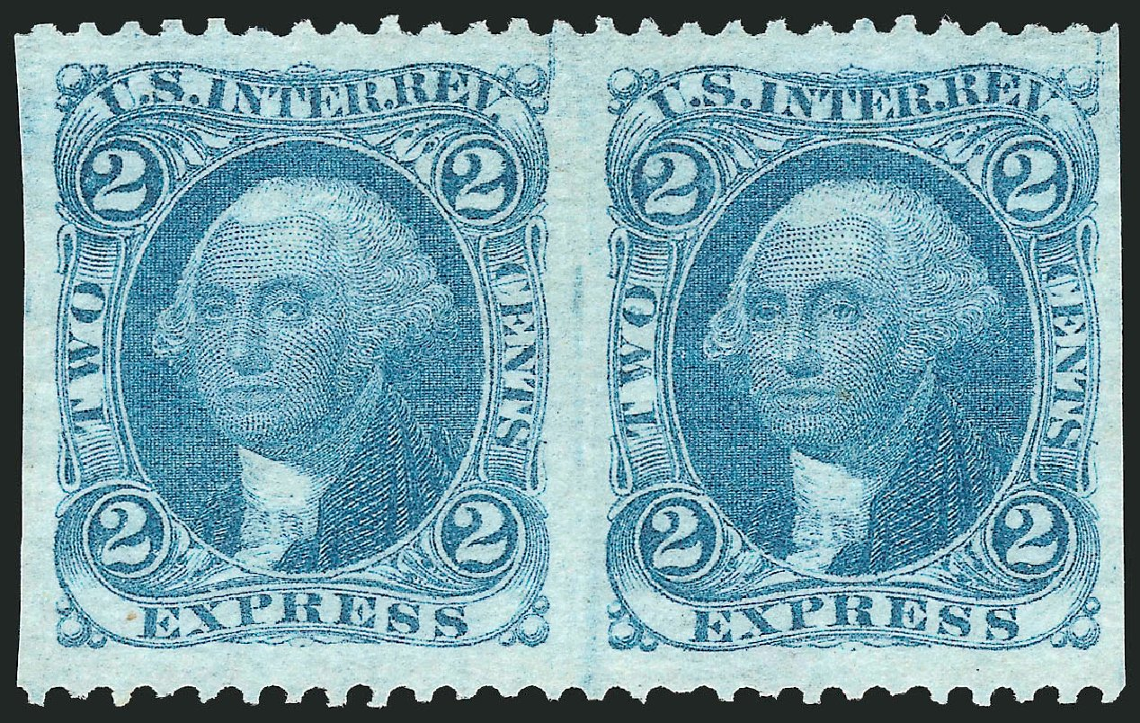 Value of US Stamp Scott Catalogue # R9 - 1862 2c Revenue Express. Robert Siegel Auction Galleries, Mar 2014, Sale 1066, Lot 45