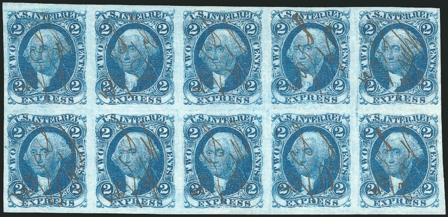 Values of US Stamp Scott # R9: 1862 2c Revenue Express. Robert Siegel Auction Galleries, Oct 2012, Sale 1031, Lot 1002