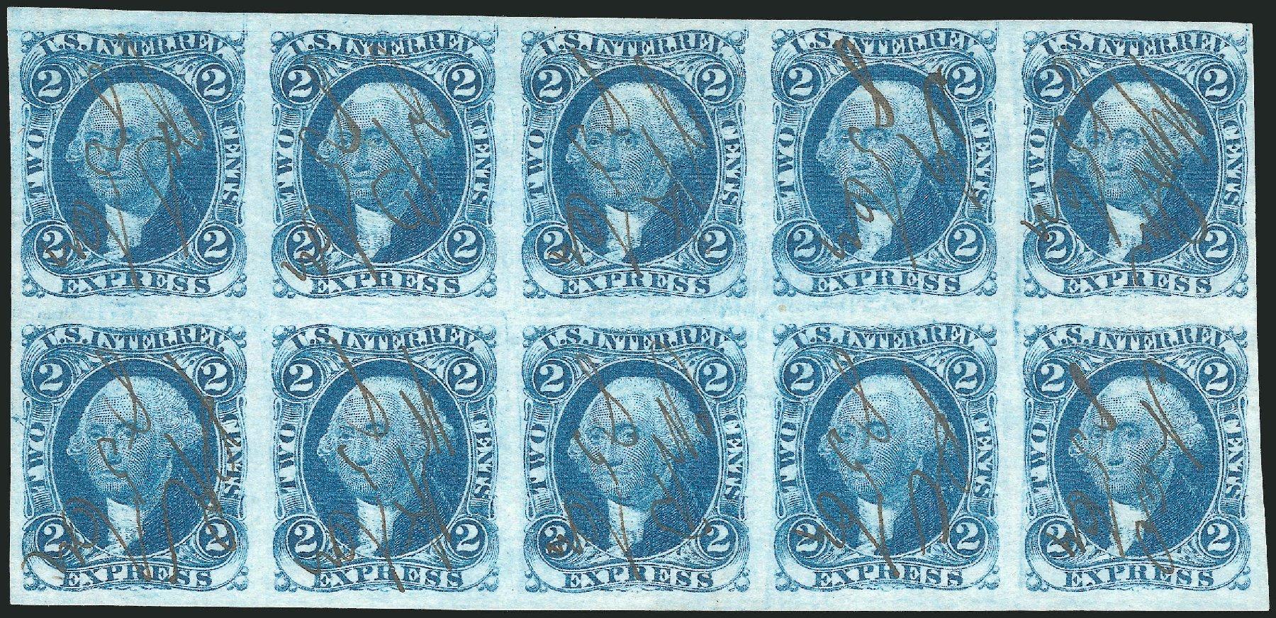 Values of US Stamp Scott # R9: 1862 2c Revenue Express. Robert Siegel Auction Galleries, Oct 2012, Sale 1031, Lot 1002