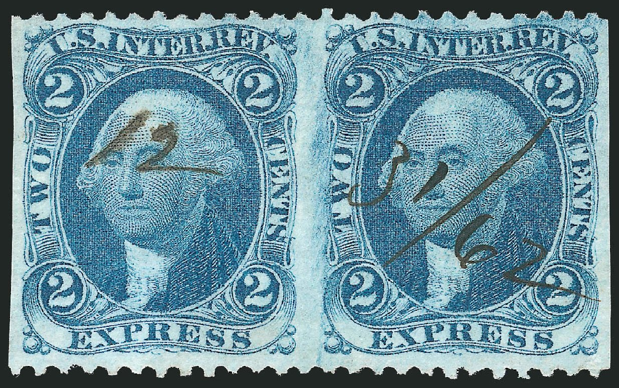 US Stamp Values Scott Catalogue R9: 2c 1862 Revenue Express. Robert Siegel Auction Galleries, Nov 2011, Sale 1015, Lot 43