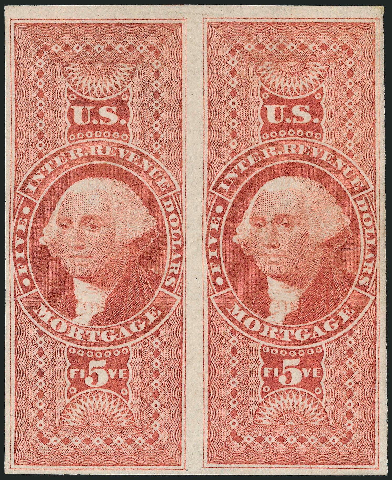 Costs of US Stamps Scott Catalog # R91 - 1862 US$5.00 Revenue Mortgage. Robert Siegel Auction Galleries, Dec 2008, Sale 967, Lot 5241