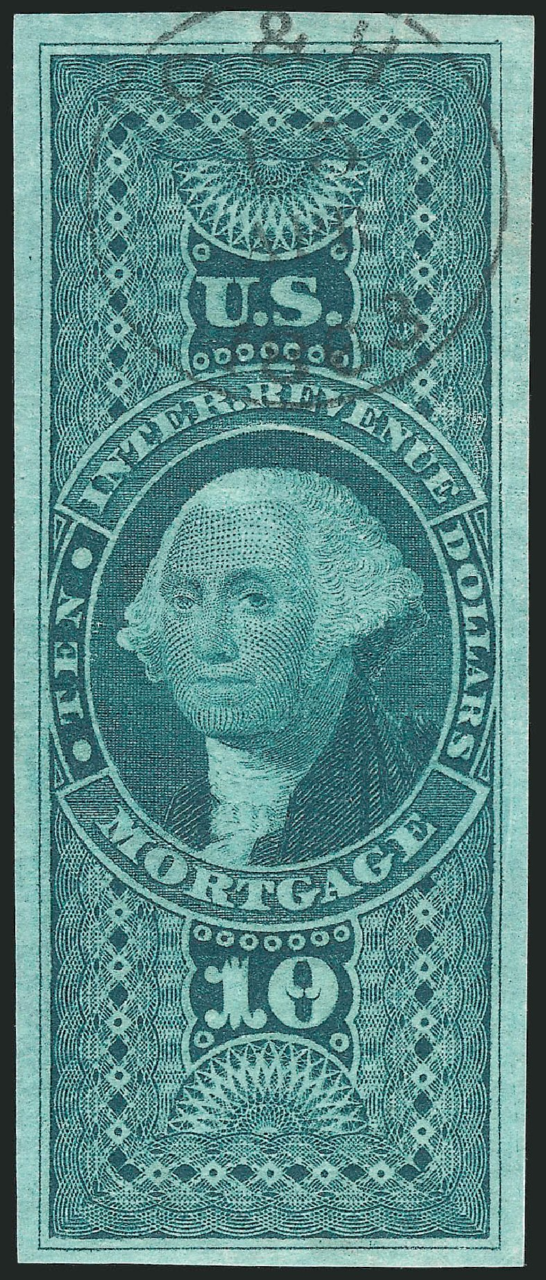 US Stamps Value Scott Catalog #R95 - US$10.00 1862 Revenue Mortgage. Robert Siegel Auction Galleries, Dec 2014, Sale 1089, Lot 264